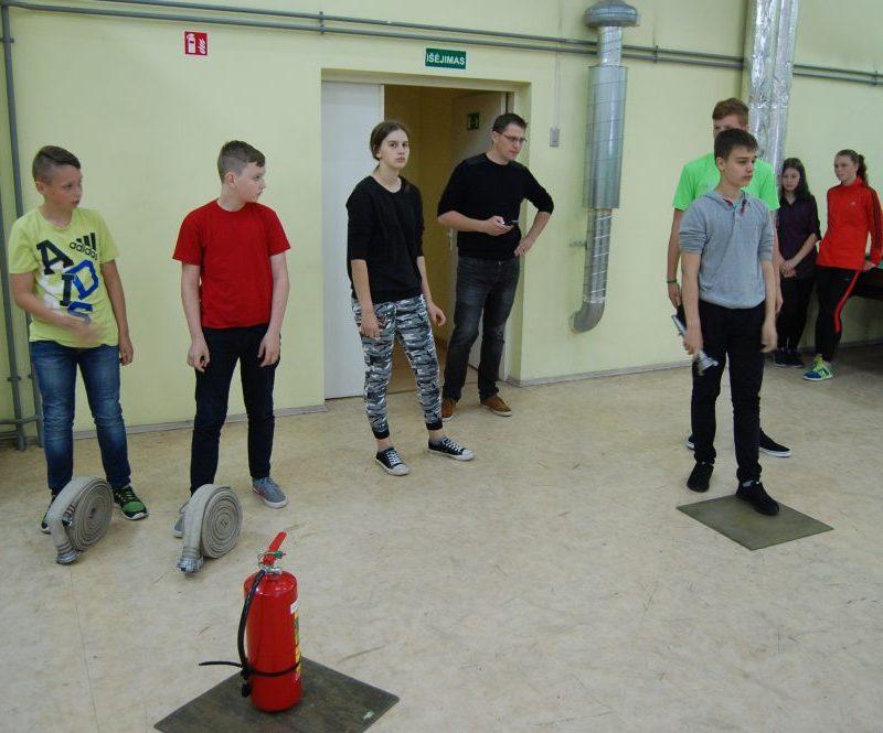 Jaunųjų ugniagesių varžytuvėseiškovota III vieta